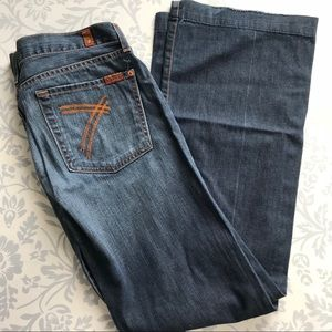 7FAM dojo flare jeans 31 x 32 7 for all mankind